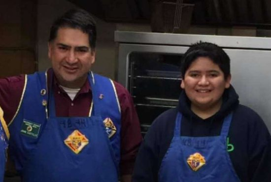 Kendrick Castillo and his father, John Castillo.