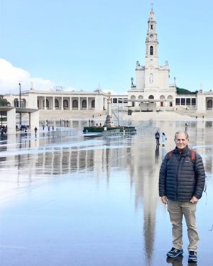 Louisiana chef John Folse is pictured in an undated photo at the Marian shrine of Fatima in central Portugal.