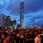 Bishop to remain with Hong Kong protesters 'no matter how long they stay'
