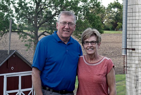 Dick and Mary Jo Hruby on their farm