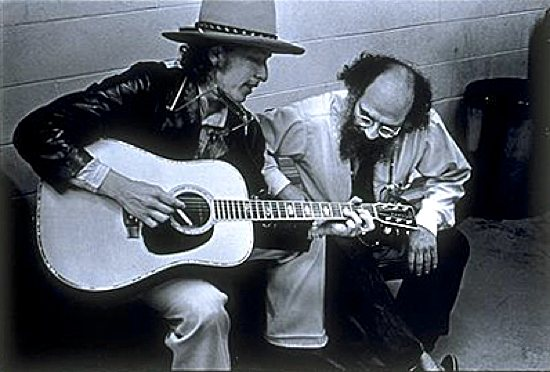 Portrait of Allen Ginsberg and Bob Dylan