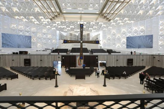 This is an interior view taken July 8, 2019, inside the Christ Cathedral