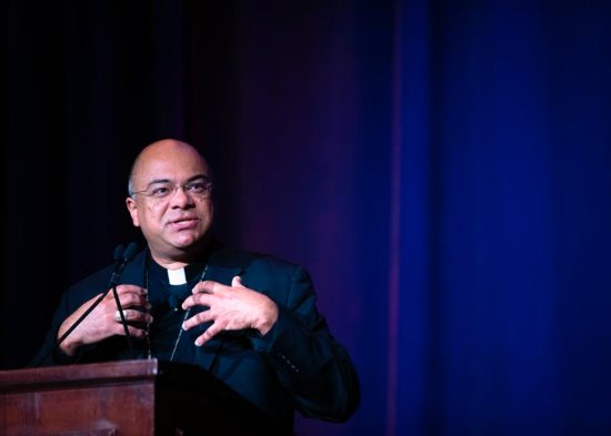Bishop Shelton Fabre of Houma-Thibodaux, La., chair of the U.S. Conference of Catholic Bishops' Ad Hoc Committee Against Racism