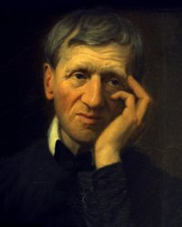 Blessed John Henry Newman is seen in a portrait