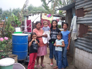 A Guatemalan family at home for cover story