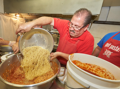 O7U0730 1 - 66th Annual Election Day Spaghetti Supper at Our Lady of Pompei in Syracuse