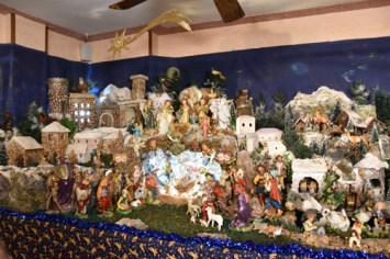 A section of the 14-foot Nativity scene at Angotti's Family Restaurant in Syracuse. (Sun photo | Katherine Long)