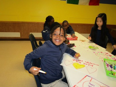 The students at Cathedral Academy at Pompei in Syracuse designed placemats and delivered them to the Samaritan Center.