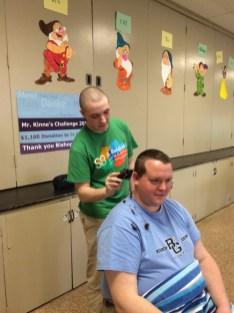 IMG 0007 1 - Grimes principal goes bald for a good cause
