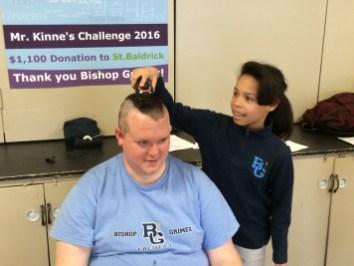 IMG 0048 1 - Grimes principal goes bald for a good cause