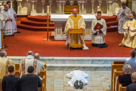 LyonsDeaconOrdination 006 1 - 'A minister of charity and a servant of love':  Seminarian Matthew Lyons ordained to the transitional diaconate