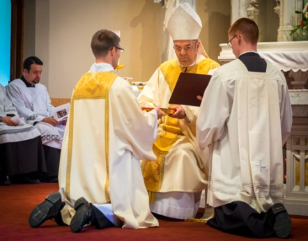 LyonsDeaconOrdination 008 1 - 'A minister of charity and a servant of love':  Seminarian Matthew Lyons ordained to the transitional diaconate