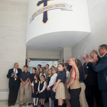Cath 7 1 - Bishop blesses new Willenburg Center at Notre Dame Schools