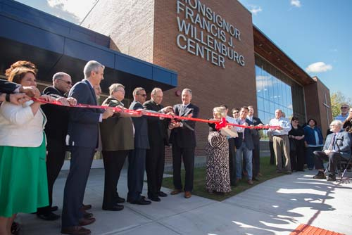 ND ribbon cutting 3 1 - ND gem beckons all Uticans: Newly blessed Willenburg Center enhances Notre Dame