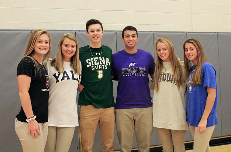 Six CBA students  to play sports at Division I schools