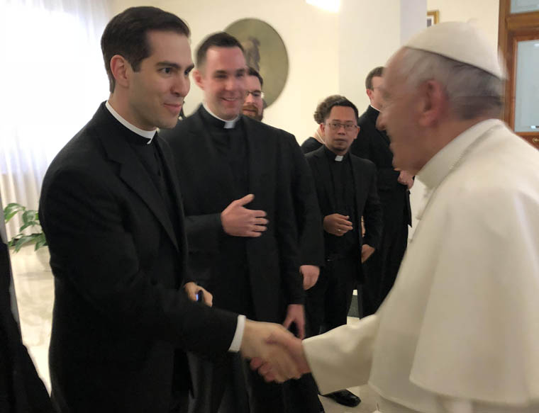 Diocesan priest meets Pope Francis