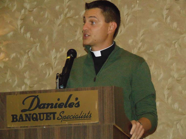 Father Ballard speaks at St. Mary of Mount Carmel / Blessed Sacrament gathering