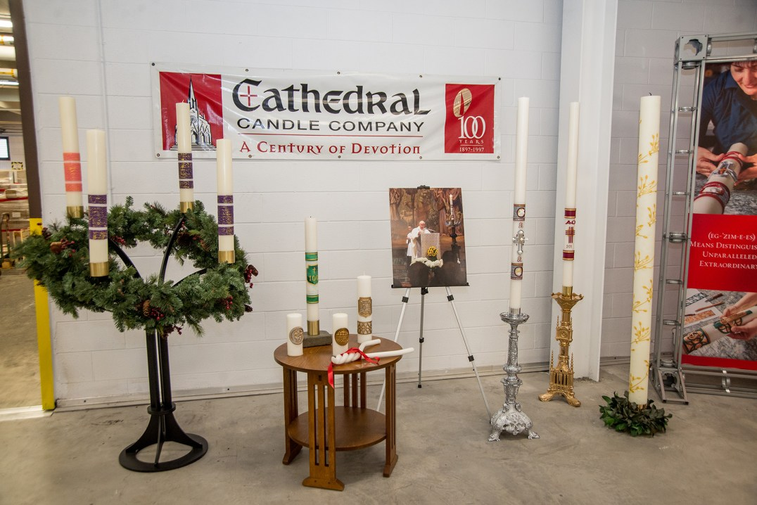 Candles - Cathedral Candle Company expansion opened, blessed
