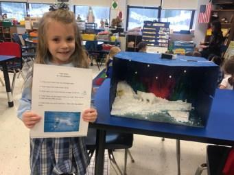 Elle Antonacci with her polar bear Arctic project.