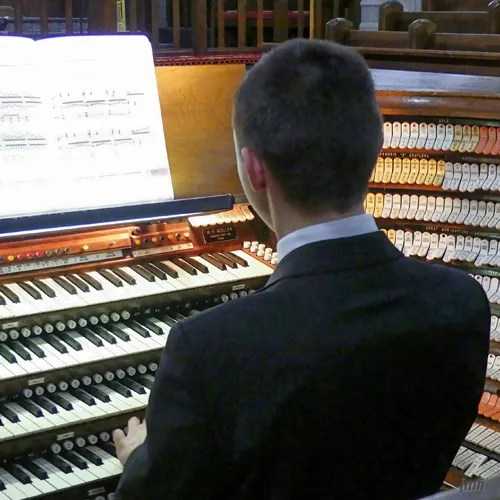 Dominic plays - 'Dominic-lovers' hear teen organist play at West Point