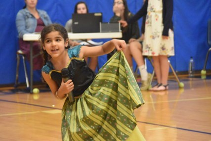 """Susanna Marzouk (second grade) singing """"First Time in Forever"""" from Frozen."""