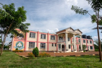 The front of St. Francis De Sales Secondary School in Iyolwa.