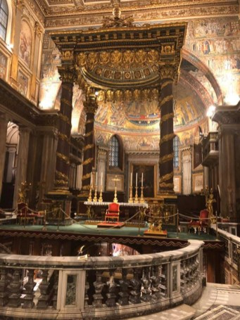 The bishops celebrated morning Mass at the Basilica of St. Mary Major Nov. 11.
