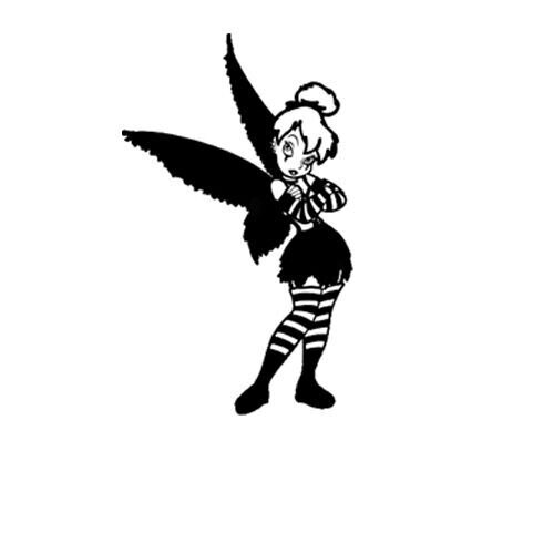 Goth Tinkerbell Sticker Decal for Macbook Air Pro Laptop