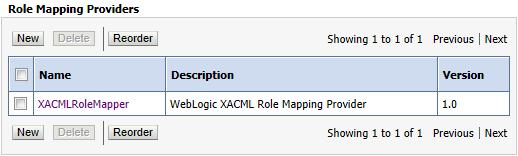 WebLogic Server default Role Mapping Provider: XACMLRoleMapper