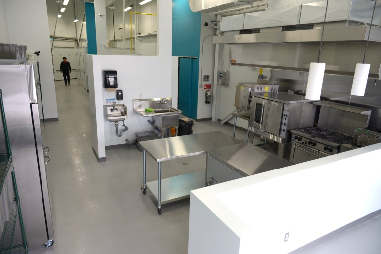 Shiny stainless steel kitchen