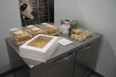 Nouna's Cupboard, selling baklava, raspberry pudding, and soup.