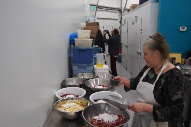 Bonnie and Paul preparing their fruit tarts and pies... oh my!