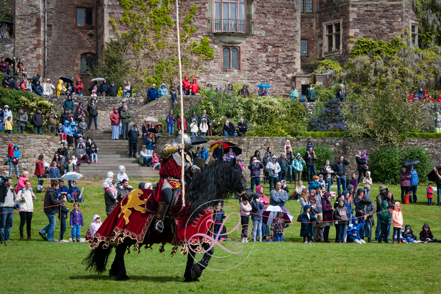 Berkeley Castle Medieval Jousting Show 2017 - Knights on Horseback Jousting from The Cavalry of Heroes with Asgard Friesian Stallion and Marc Lovatt as The Golden Knight 3x2