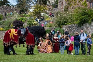Berkeley Castle Medieval Jousting Show 2017- Meet and Greet with the Knights on Horseback Medieval Jousting Show from The Cavalry of Heroes with Friesian Stallion Asgard