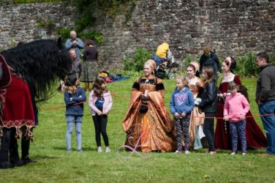 Berkeley Castle Medieval Jousting Show 2017 - Meet and Greet with the Knights on Horseback Medieval Jousting Show from The Cavalry of Heroes with Tudor Ladies
