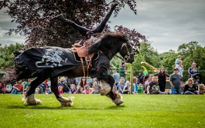 First Stop on the European Tour – Medieval Jousting Stunt Show at Flavours of Fingal Show, Ireland