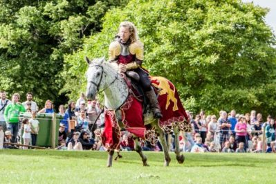 Flavours of Fingal Country Show Dublin Ireland - The Cavalry of Heroes Medieval Jousting Stunt Show - Golden Knight Marc Lovatt Double Vault Trick Image 3