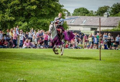 Flavours of Fingal Country Show Dublin Ireland - The Cavalry of Heroes Medieval Jousting Horse Stunt Show - Sir Robert Target Practice