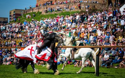 Celebrating St George's Day with a Jousting Tournament at Tamworth Castle