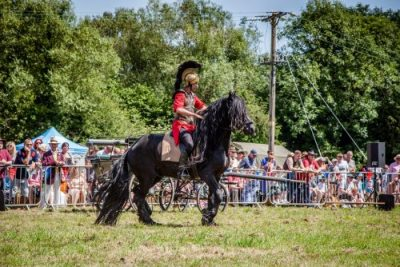 005 The Cavalry of Heroes performing Trick Riding Horse Show at Kinver Country Fair 2017 Romans, Knights and Highwayman on Horses