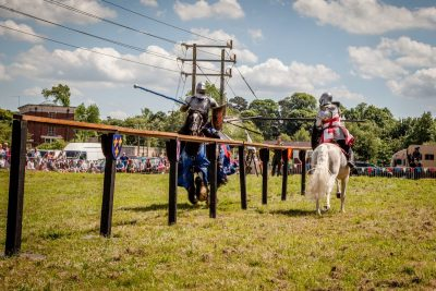008 The Cavalry of Heroes performing Cavalry through the Ages Trick Riding Horse Show at Kinver Country Fair 2017 Romans, Knights and Highwayman on Horses