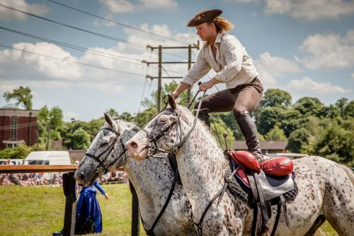 010 The Cavalry of Heroes performing at Kinver Country Fair 2017 Romans, Knights and Highwayman on Horses