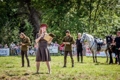 019 The Cavalry of Heroes performing WW1 Trick Riding Horse Show at Kinver Country Fair 2017 Romans, Knights and Highwayman on Horses