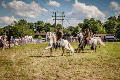 023 The Cavalry of Heroes performing WW1 Trick Riding Horse Show at Kinver Country Fair 2017 Romans, Knights and Highwayman on Horses
