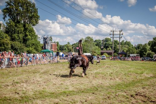 057 The Cavalry of Heroes performing Cavalry WW1 Trick Riding Horse Show at Kinver Country Fair 2017 Romans, Knights and Highwayman on Horses