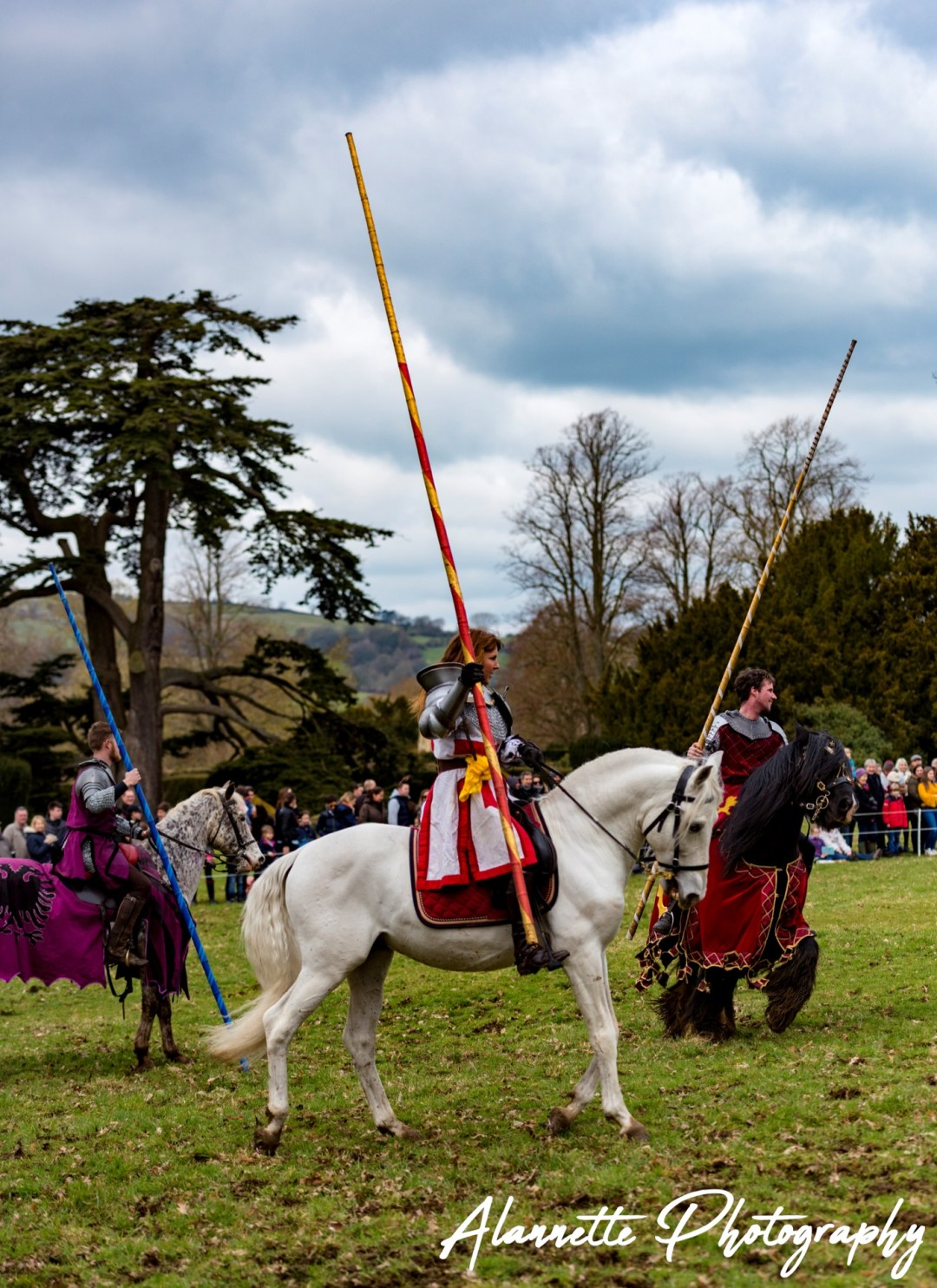 Medieval Wedding at Bolton Castle with knights and horses provided by The Cavalry of Heroes Ltd