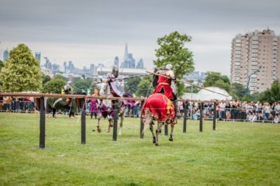 The Cavalry of Heroes performing Medieval Jousting Show at Lambeth Country Show 2017 Knights on Horseback 29