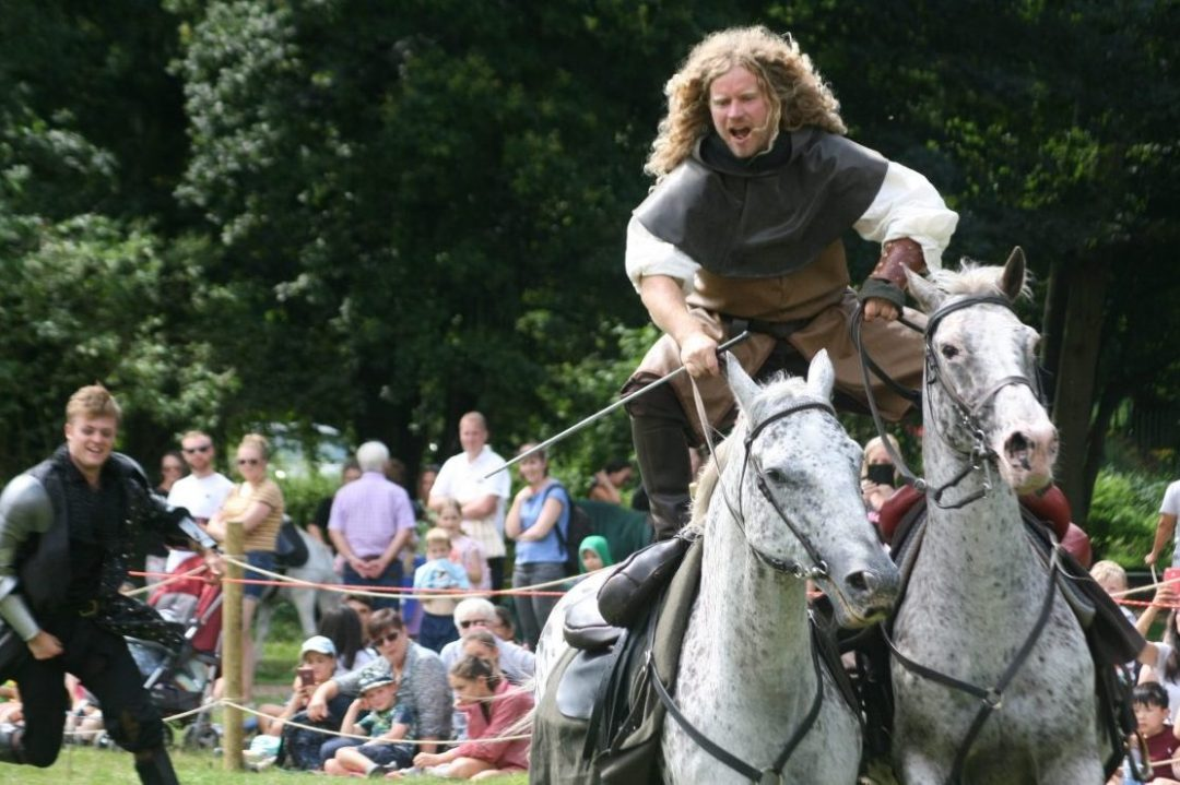 Sudeley Castle Easter Joust - Andy Keenan - Stroud Camera Club - Black and White Golden Knight Handed Shield