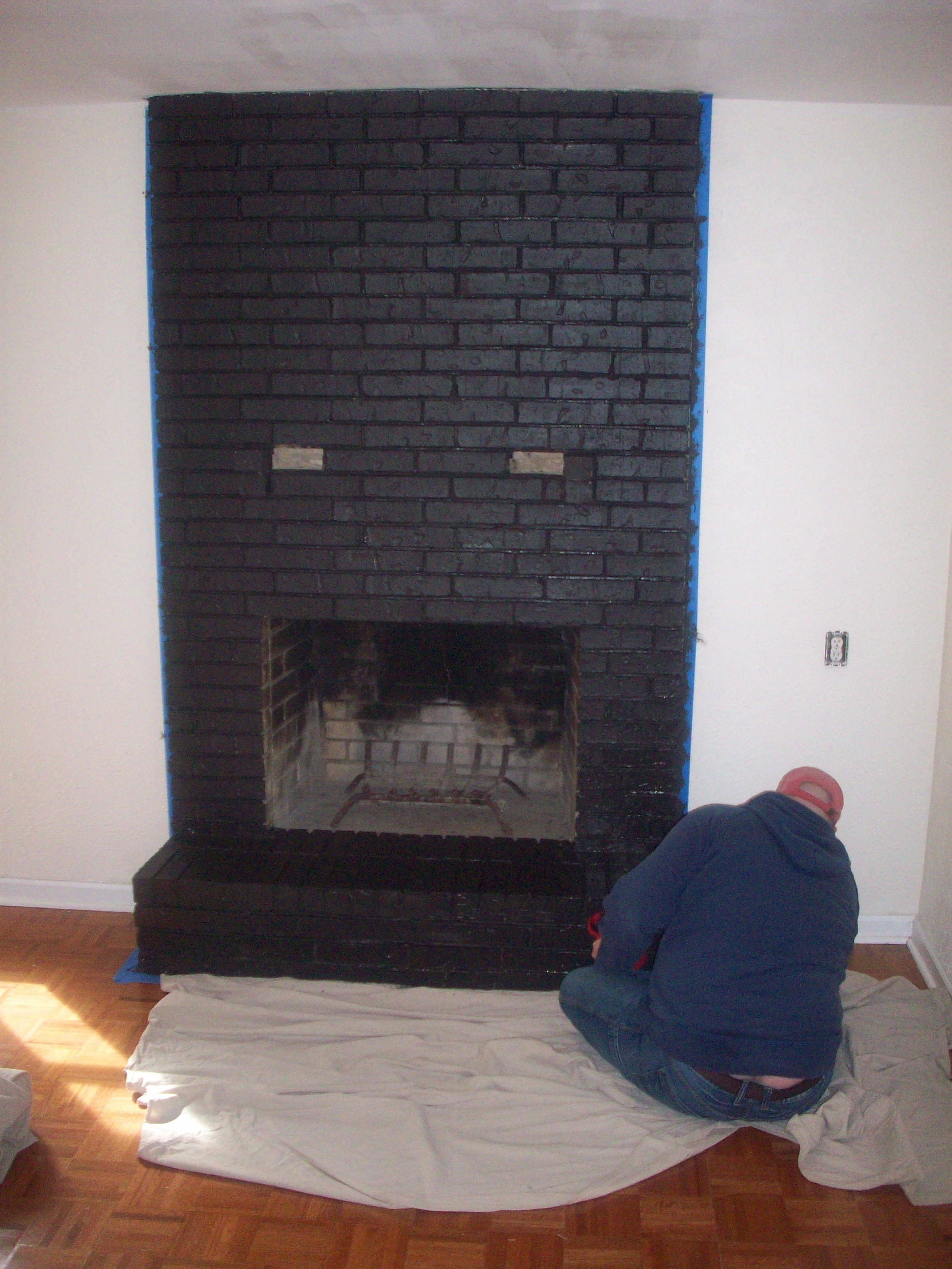 Painting The Brick The Cavender Diary Fireplace | The Cavender Diary