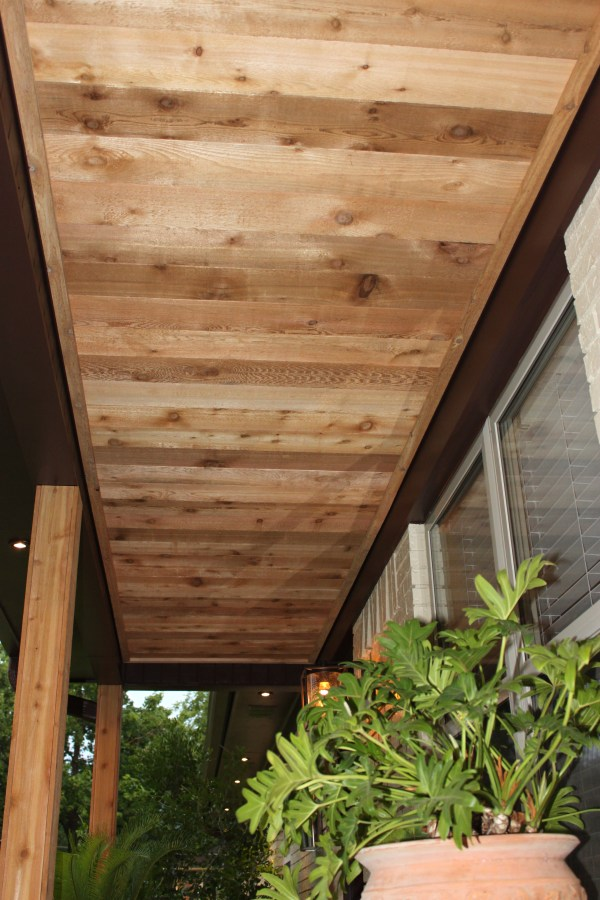 Cedar Planks On Ceiling